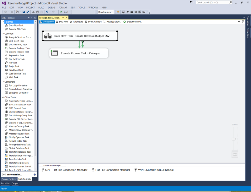 SSIS screenshot workflow