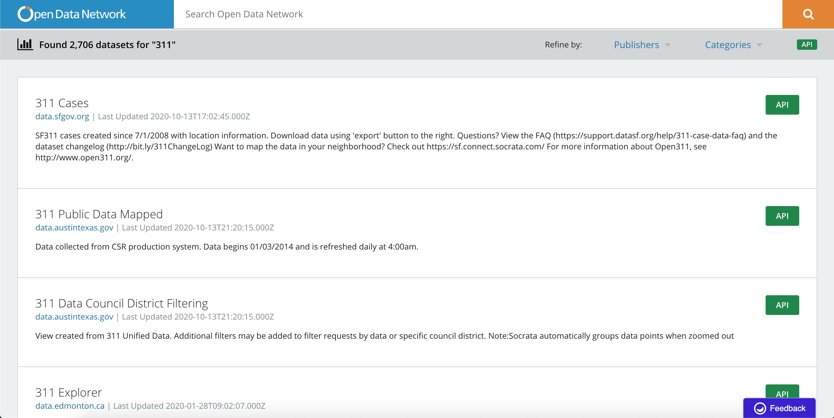 API Endpoints   Socrata