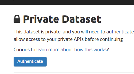 API Documentation for Private Datasets   Socrata